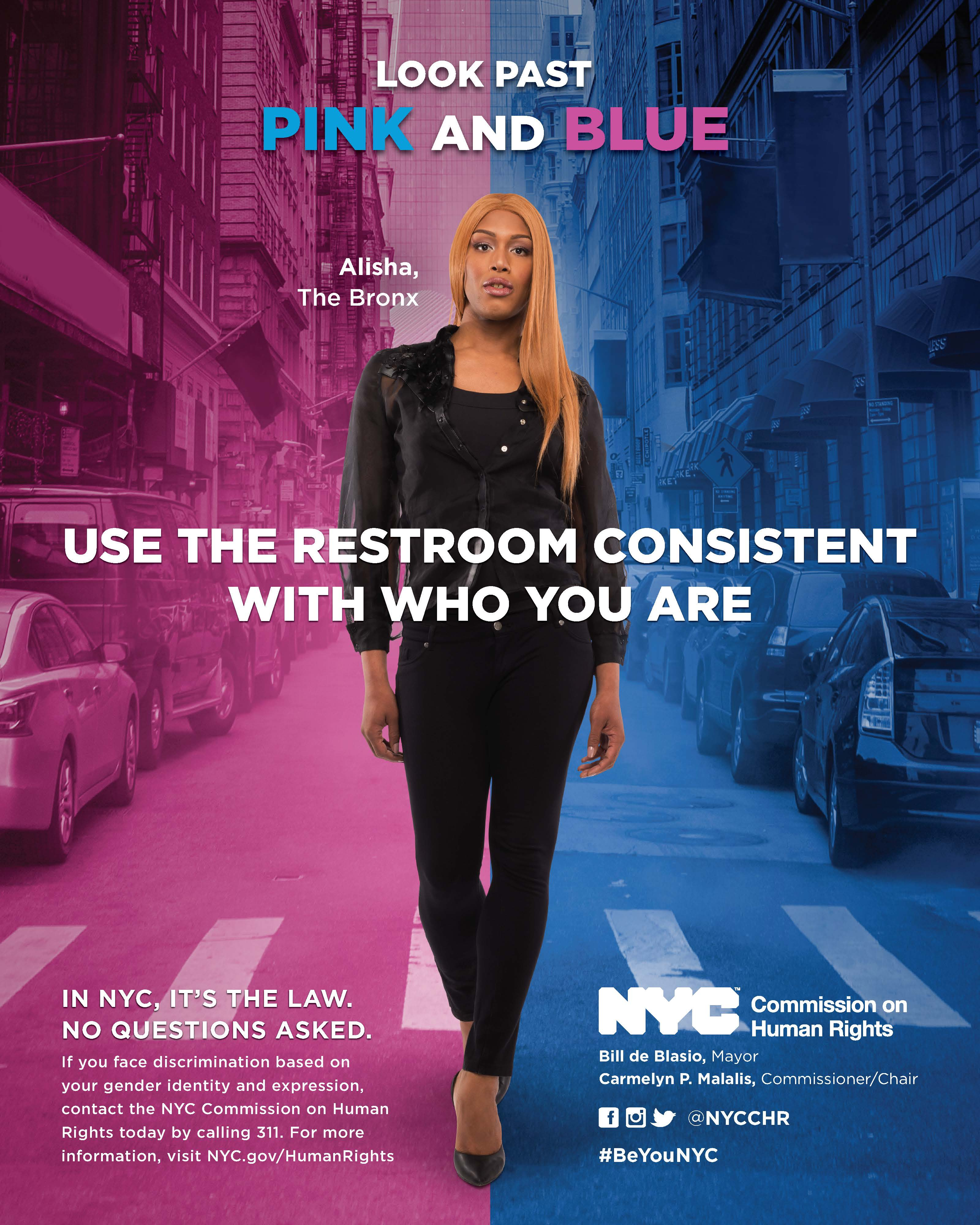 Nyc Commission On Human Rights Quot Look Past Pink And Blue Quot Transgender Bathroom Rights Campaign